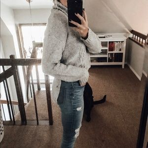 Sweaters - Kersch Front Crop Cable Knit Sweater